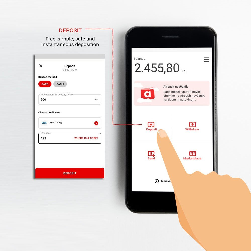Aircash Mobile Money Transfer Get It